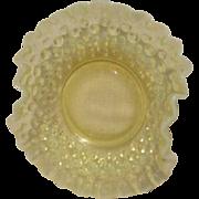 Fenton Topaz  Opalescent Hobnail Ruffled Edge Small Bowl