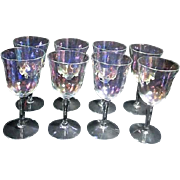 Set of 8 Iridescent Wine Goblets