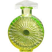Florescent Yellow Perfume Bottle with Satin Glass Stopper