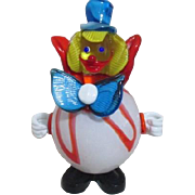 Blown Art Glass Clown with Round Torso