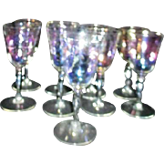 Set of 9 Iridescent Wine Goblets