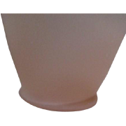 Pink Satin Frosted Glass Vase by Tiffin
