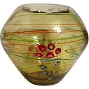 Art Glass Bowl with Millefiori Flowers