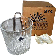 Princess House Lead Crystal Ice Bucket Highlights Pattern