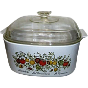 Corning Ware Spice of Life Lidded Square Casserole Dish