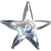 Starfish Clear Glass Paperweight
