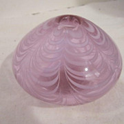 Vintage Small Mouth Blown Art Glass Vase/Paper Weight/Candle Holder