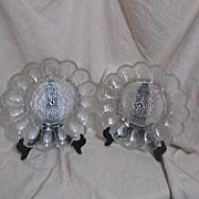 Clear Glass Thousand Eye Egg Plate