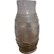 Vintage Clear Glass Mustard Jar from France