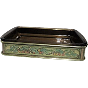 Pyrex 2 quart Oblong Baking Dish with Decorated Metal Server