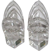 Pair of Mikasa Crystal Candle Holders Made in Germany