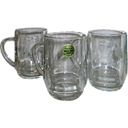 Set of Three Princess House Crystal Heritage Pattern Mugs Made in France