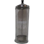 Barbicide Disinfectant Glass Jar with Metal Lid from Barber Shop