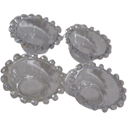 Set of 4 Candlewick Style Open Salts by Imperial Glass Co