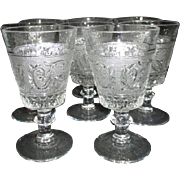 Set of 8 Duncan Miller Sandwich Pattern Tall 9 oz Water Goblet