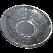 Elegant Glass Large Etched Bowl