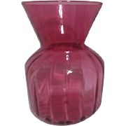 Art Glass Cranberry VAse by Pilgrim Glass Co