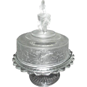 Gillinder & Co Westward Ho EAPG Covered Butter Dish