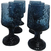 Lenox Imromptu Wine Goblets Crystal Hand Blown  Set of 6
