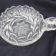 Vintage Crystal Bowl with Handle