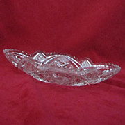 Small Cut Glass Relish Dish