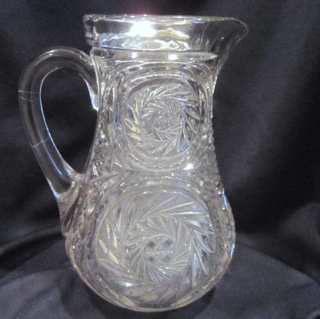 Antique Heavy Glass Pitcher from Late 1800's