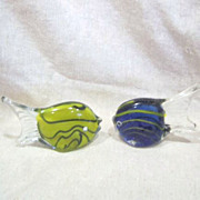 Pair of Art Glass Fish