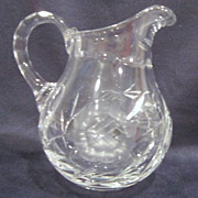 Crystal Creamer Pitcher with Rose Decoration