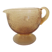 Amber Glass Creamer
