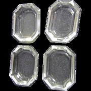 4 Crystal Salt Cellars