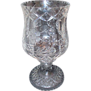 Heavy Crystal Candle Holder with Globe