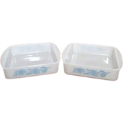 Two Square Glasbake Baking/Serving Dishes