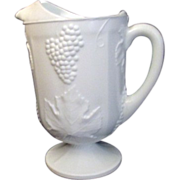 Milk Glass Pitcher Panels with Grape Harvest Pattern