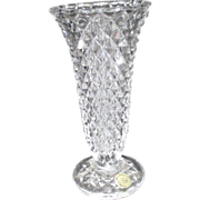 Princess House Crystal Vase with Diamond Pattern