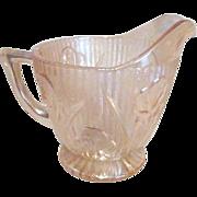 Jeannette Marigold Creamer Herringbone and Iris Pattern