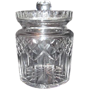 Waterford Crystal Lismore Pattern Biscuit Jar