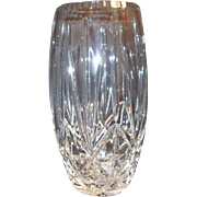 Polish Large Hand Cut Crystal Vase