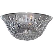 "Waterford Crystal 9"" Round Bowl Lismore Pattern"