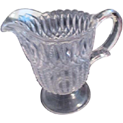 Vintage Small Clear Glass Pitcher
