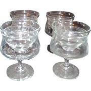 Set of 4 Princess House Heritage Pattern Shrimp Cocktail Bowls