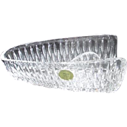 Princess House Double Highlights Crystal Knife Holder