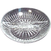 Princess House Highlight Pattern 2 Section Relish Server