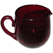 Ruby Red Glass Creamer - Red Tag Sale Item