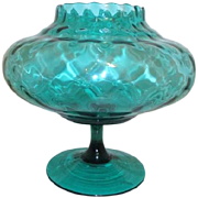 Green Footed Glass Bowl