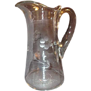 Princess House Crystal Heritage Pattern Pitcher