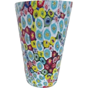 Art Glass Millefiori Multicolored Vase