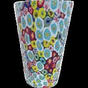 Art Glass Millefiori Multicolored Vase