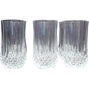 Set of 6 Crystal Drinking Glasses Longchamps Pattern by Cristal d'Arques