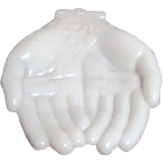 Avon White Milk Glass Hands
