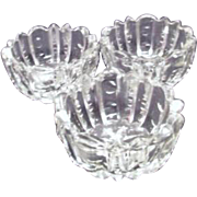 Set of Three Crystal Salt Cellars